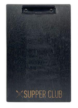 Holzklemmbrett schwarz gebeizt und lackiert